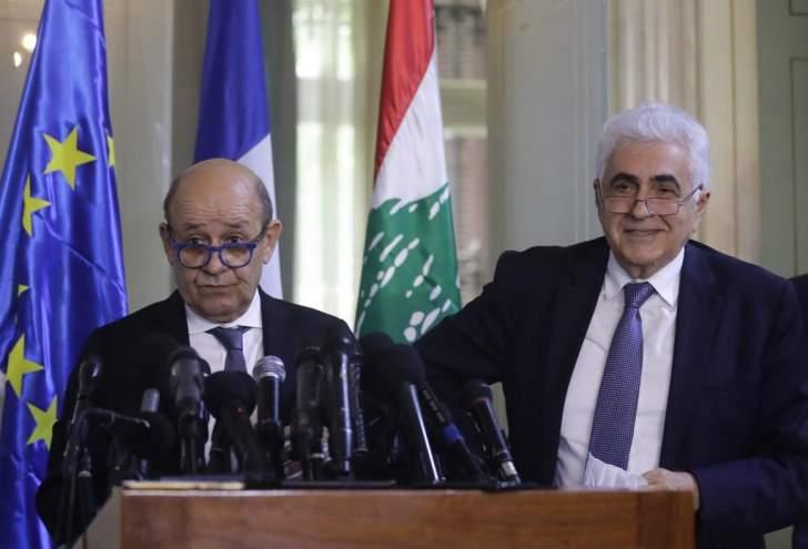 فرنسا تحذّر من انزلاق لبنان نحو عمق الهاوية.. وتعد بالمساعدات المشروطة