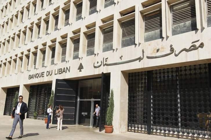 """""""مصرف لبنان"""" يمتلك 1.23 ملیار دولار من العملات الأجنبیة.. وإحتیاطي الذھب 8.16 ملیار دولار"""