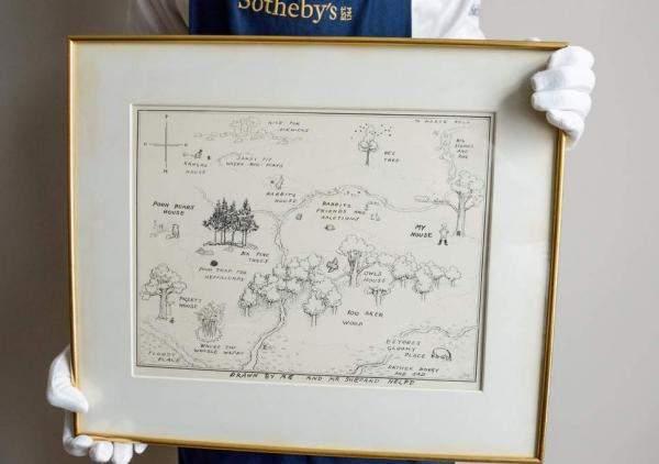 """خريطة """"ويني الدبدوب""""تباع بـ570 ألف دولار في مزاد"""