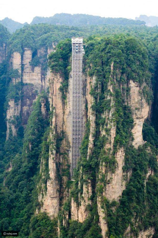 """326 متر ارتفاع مصعد""""Bailong"""" الأطول في العالم"""