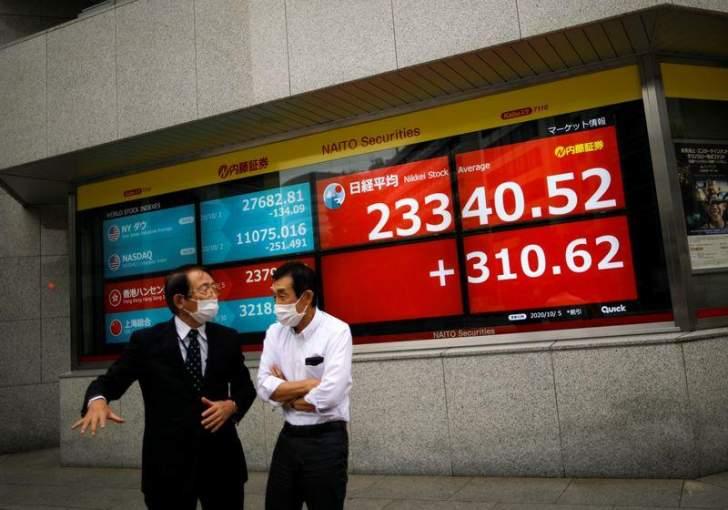 """مؤشر """"نيكي"""" الياباني يغلق مرتفعاً ويقفز لأعلى مستوى منذ شباط"""