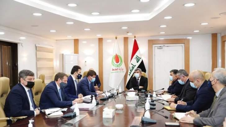 """""""لوك أويل"""" وبغداد تبحثان تعزيز الإستثمار في الغاز والطاقة النظيفة"""