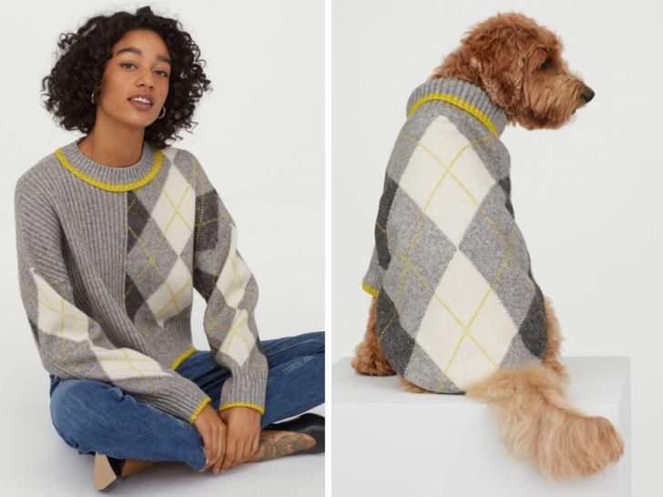 """""""H&M"""" تتعاون مع""""برينغل"""" و""""سكوتلاند""""لتقديم ثياب مماثلة للكلاب وأصحابها"""