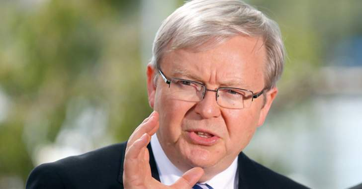 """رئيس الوزراء الأسترالي السابق كيفين رود سائق """"أوبر"""" لفترة وجيزة"""