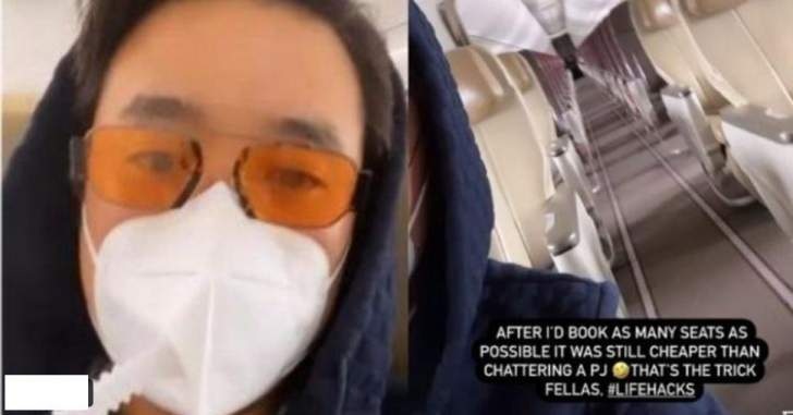 """حجز رحلة طيران كاملة لتجنب فيروس """"كورونا""""!"""