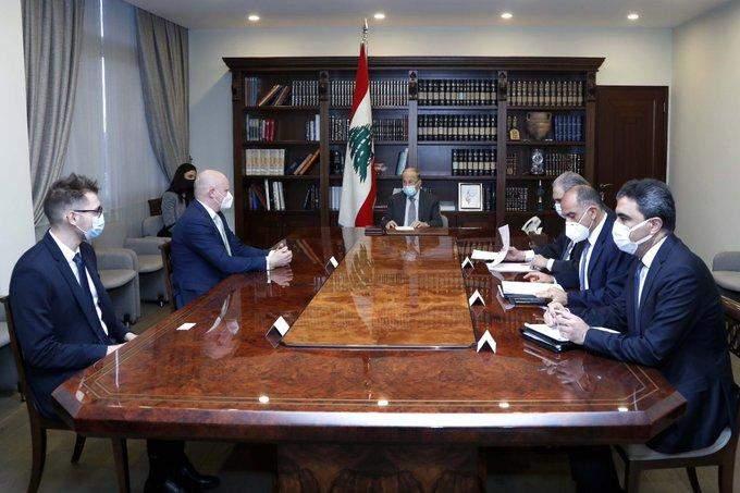 الرئيس عون يتبلغ منالسفير الألماني إنتهاء عملية توضيب المستوعبات التي تحتوي على مواد مشتعلة في مرفأ بيروت