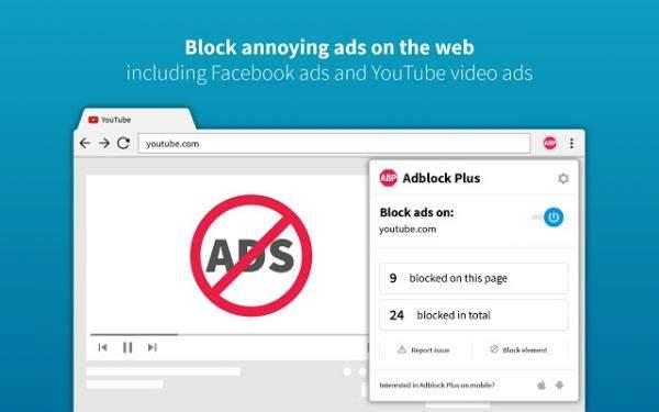 """""""Adblock Plus"""" تضيف تحديثا يجعلها أسرع بحظر الإعلانات"""