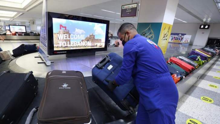 """تراجع عدد المسافرين عبر """"مطار بيروت"""" بنسبة 75%خلال الأشهر العشرة الأولى من 2020"""