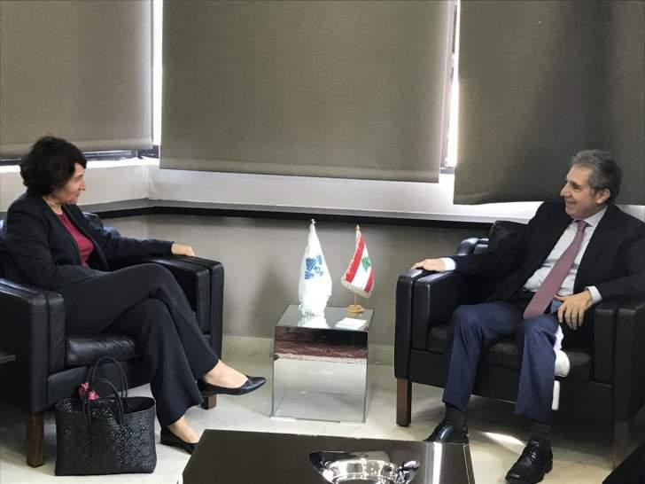 وزني يلتقي السفيرة الفرنسية.. تأكيدٌ على أهمية البدء بمهمة الإنقاذ